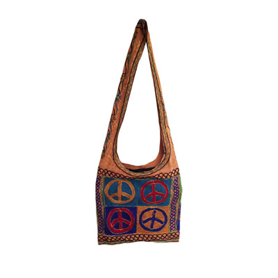 Messenger Sling Shoulder Bag Peace Love Unity Bag Casual Bag Rasta Festival HOBO