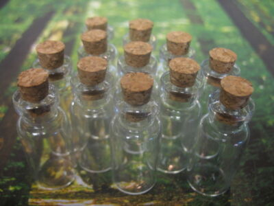 10 2ml Bitty Bottles. Tiny Glass Bottles. Tiny Glass Vials. Small Glass Jars.