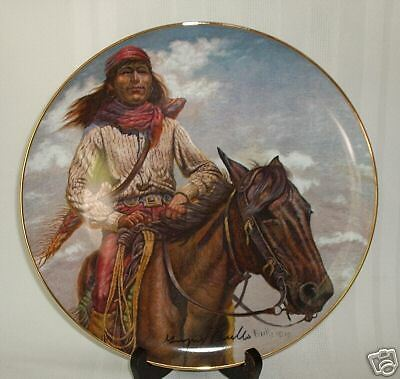 Perillo CHIEF GERONIMO Gregory Perillo DOUBLE AUTOGRAPH Collector Plate NIB