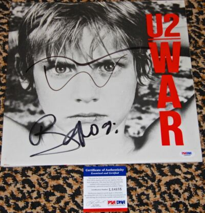 U2 WAR 1983 album LP cover signed autographed BONO drawing PSA DNA COA RARE