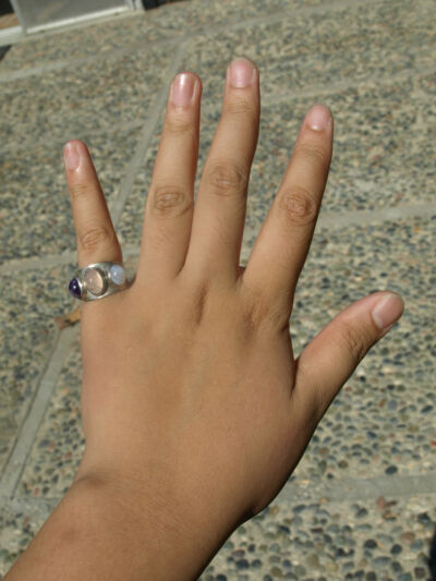 Vintage Multistone Wide Ring Size 7 1/4 Sterling Silver