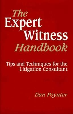 Expert Witness Handbook (2e, CL, Dan Poynter, Good Book