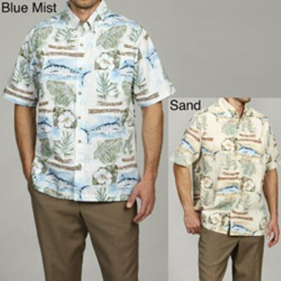 New Hook & Tackle Men's Tamarindo Shirt - Sand Color- Small