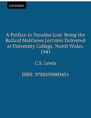 A Preface to Paradise Lost, Lewis, C.S., Good Book