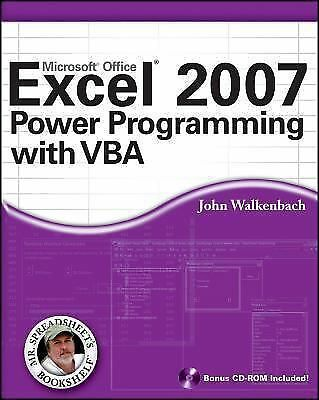 Excel 2007 Power Programming with VBA (Mr. Spreadsheet's Bookshelf), John Walken