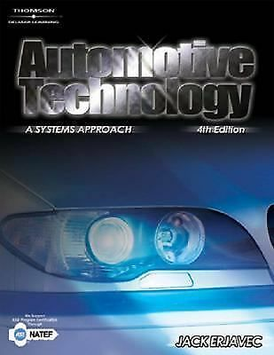 Automotive Technology: A Systems Approach, Erjavec, Jack, Good Book