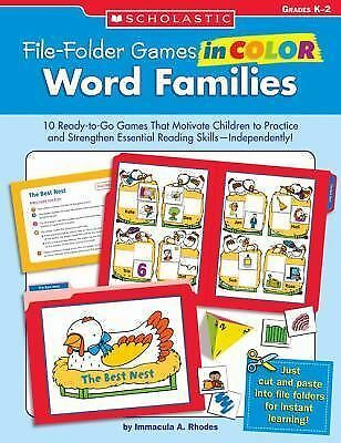 Word Families, Grades K-2 (File-Folder Games in Color), Rhodes, Immacula, Good B