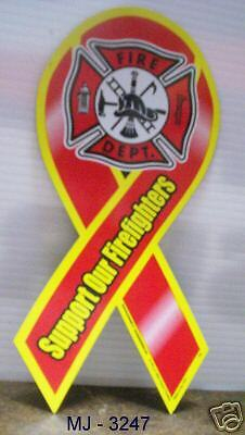 Lot of 4 - Support Our Firefighters Magnetic Ribbons
