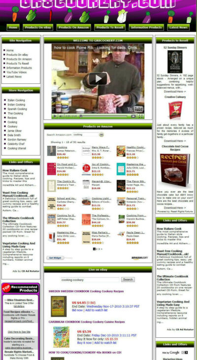 gr8cookery. com With Established Cooking Website and built in affiliates