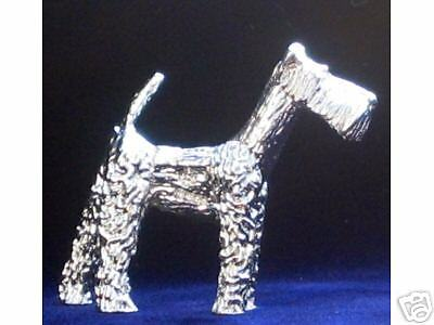RARE STERLING SILVER AIRDALE TERRIER FIGURINE MINIATURE