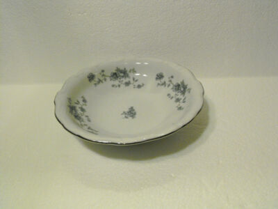 TRADITIONS FINE CHINA DESSERT SAUCE DISH BLUE GARLAND PATTERN JOHANN HAVILAND