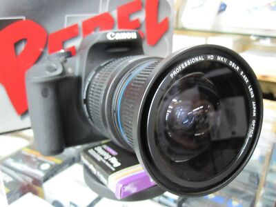 Ultra Wide Angle Macro Fisheye Zoom Lens for Canon Eos Digital Rebel SL1 T5i XTi