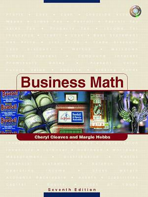 Business Math, Hobbs, Margie, Cleaves, Cheryl, Excellent Book