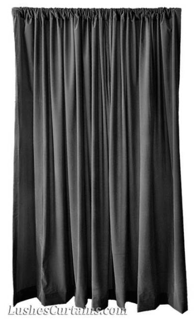 Custom High Theater Backdrop Drapes Solid Black Velvet 12 ft Curtain Long Panels