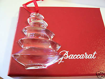 NEW in BOX BACCARAT Noel CLEAR TREE ORNAMENT $180 FS