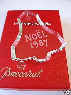 NEW Mint in BOX BACCARAT Crystal NOEL 1987 ORNAMENT Free USA Shipping