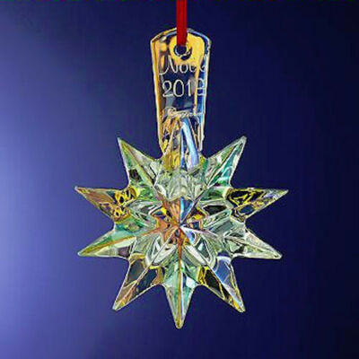 NEW in Box BACCARAT Crystal NOEL 2013 Annual Ornament IRIDESCENT $140 FS