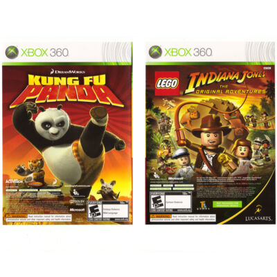 Lego Indiana Jones: The Original Adventures / Kung Fu Panda, Good Xbox 360, Xbox