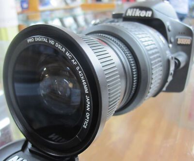 Wide Angle macro fisheye lens C-PL for Nikon d3100 d3000 d5000 d5100 d3200 RB