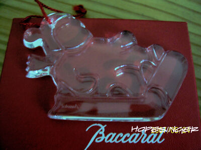 VERY RARE NEW in BOX BACCARAT Crystal Noel SLED BABY  Ornament