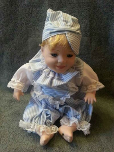 Porcelain Little Boy In Blue Trigger Object W/EM Pump inside, Paranormal Equip