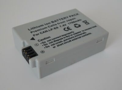LP-E8 Lithium Battery for Canon Rebel T2i T3i T4i T5i 700d 600d 550d