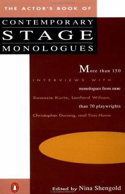 The Actor's Book of Contemporary Stage Monologues: More Than 150 Monologues fro