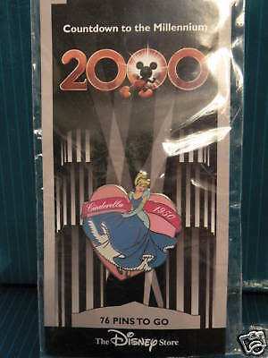 Disney CINDERELLA 1950 PIN Countdown To The Millennium Series - Retired