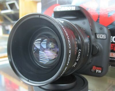 Wide Angle Macro Lens for Canon Eos Digital Rebel T5i sl1 XTi w/18-55 STM 40mm