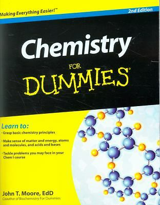 Chemistry For Dummies, Moore, John T., Good, Books
