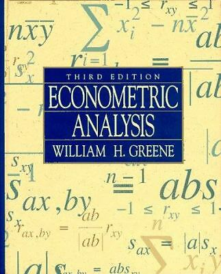 Econometric Analysis, Greene, William H., Good Book