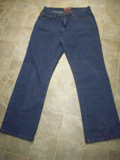 CARIBOU CREEK Flare Leg Cotton Jeans 32X31.5 Women's 10R  #3065