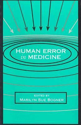 Human Error in Medicine (Human Error and Safety), , Good Book