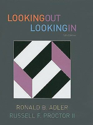 Looking Out, Looking In, Proctor II, Russell F., Adler, Ronald B., Good, Books