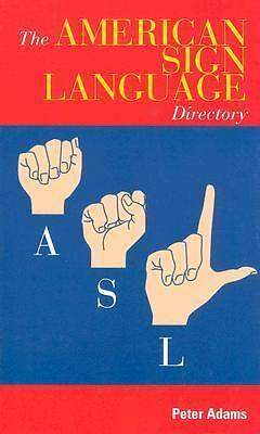 American Sign Language Directory, Adams, Peter, Good Book