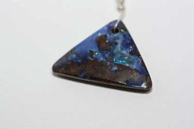 Vintage Certified GLA $7,791 Real 0.84 CT Boulder Galaxy Opal Pendant Necklace