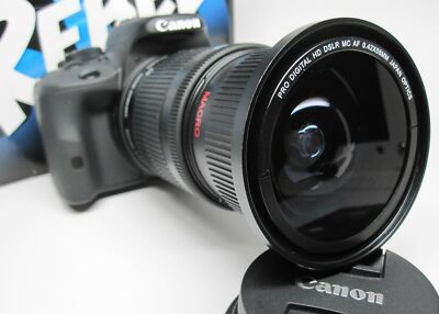 Ultra Wide Angle Macro Fisheye Lens for Canon Eos Digital Rebel w/18-135 24-85