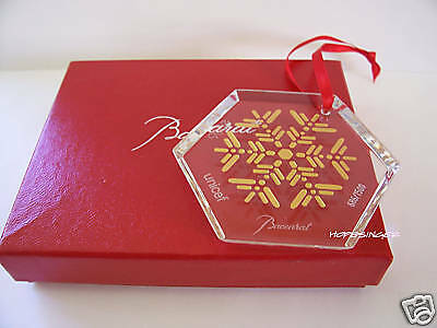NEW in BOX BACCARAT Crystal 2006 Snowfake Ornament LIMITED EDITION $125 FS
