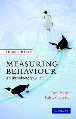 Measuring Behaviour: An Introductory Guide by Martin, Paul, Bateson, Patrick