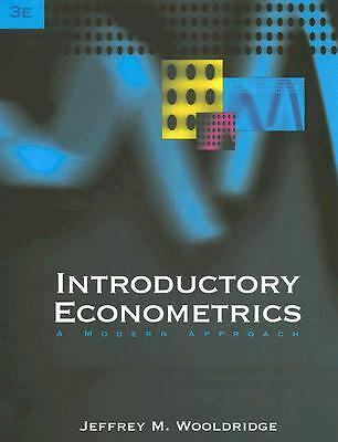 Introductory Econometrics: A Modern Approach (with Economic Applications Online