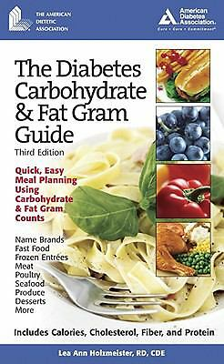 The Diabetes Carbohydrate & Fat Gram Guide, Lea Ann Holzmeister, Good Book