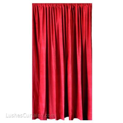 Red Recording Studio Noise Reducing/Sound Proofing  Velvet Curtain 84 in H Panel