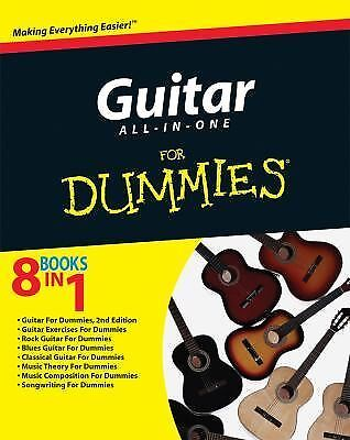 Guitar All-in-One For Dummies, Jon Chappell, Very Good Book