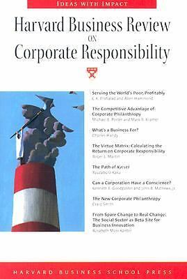 Harvard Business Review on Corporate Responsibility (Harvard Business Review Pa