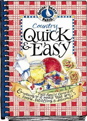 Country Quick & Easy Cookbook, Gooseberry Patch, Good Book