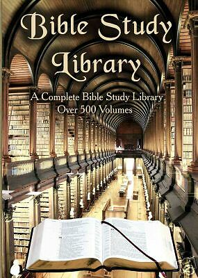 Bible Concordance + 500 Book Bible Study & Reference Library on Computer DVD