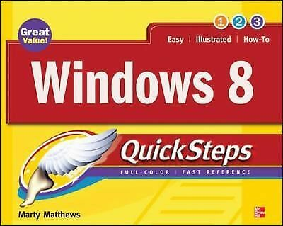 Windows 8 QuickSteps, Matthews, Marty, Good, Books
