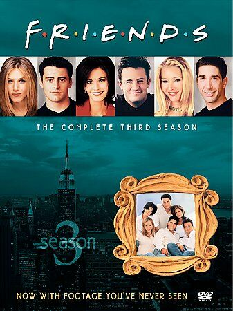 Friends - The Complete Third Season, Good DVD, Jennifer Aniston, Courteney Cox,
