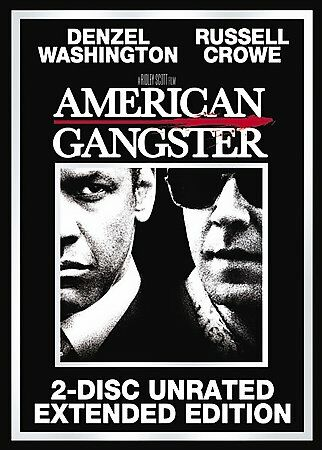 American Gangster (2-Disc Unrated Extended Edition), Good DVD, Yul Vazquez, RZA,