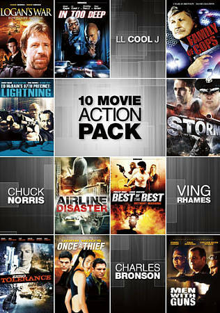 10-Movie Action Pack, Good DVD, ,